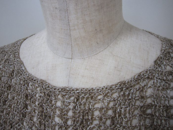 かぎ針編みリネンプルオーバー