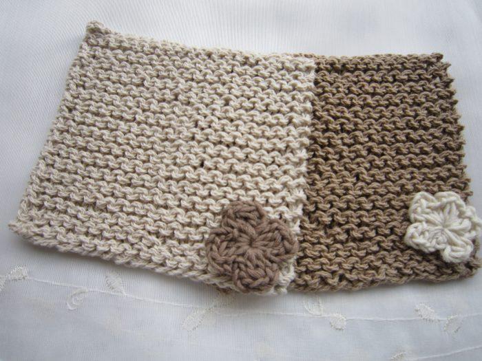 ガーター編みコースター