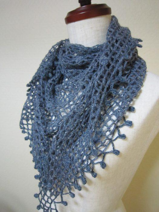 ネット編みストール