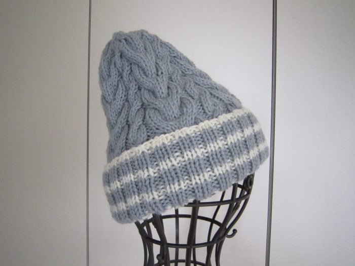 なわ編みニット帽
