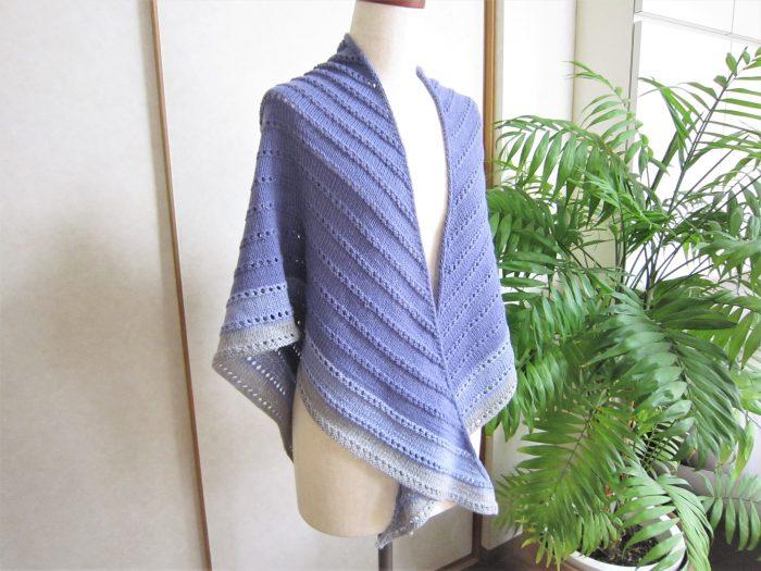 棒針編み三角ストール