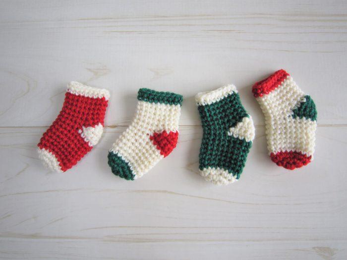 クリスマスカラー靴下