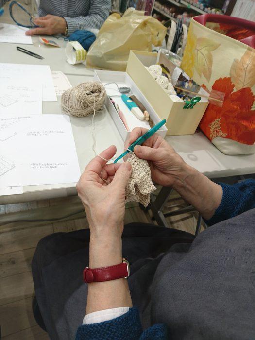 手編みレッスン20180616