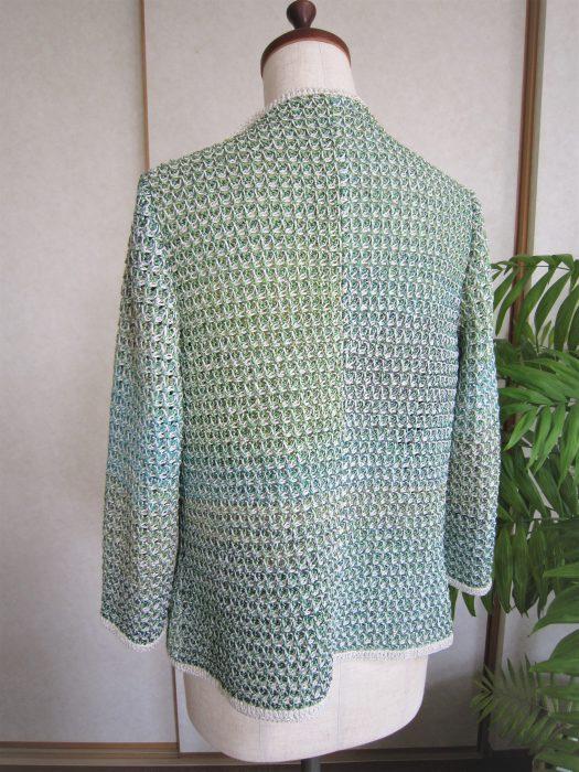アフガン編みジャケット2018