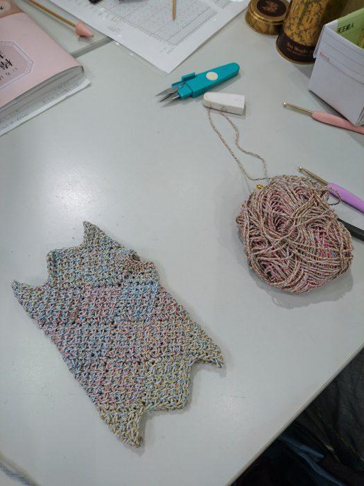 手編みレッスン20180707