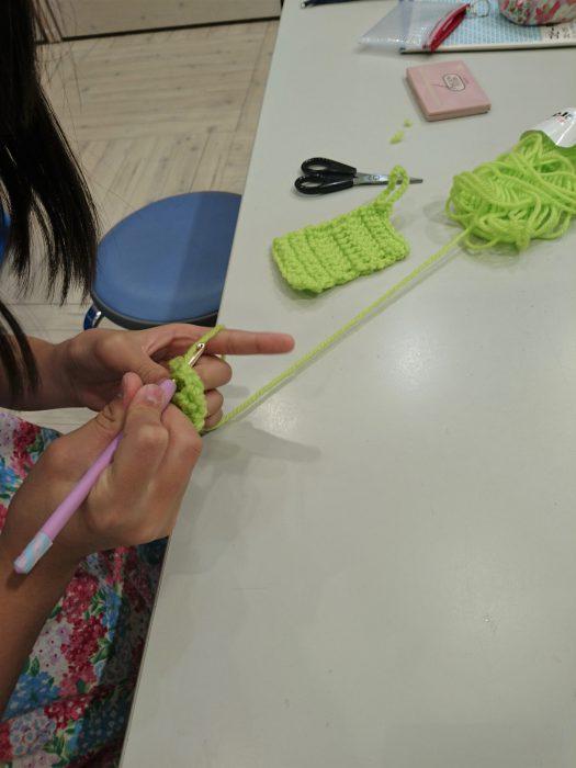 手編みレッスン20180818