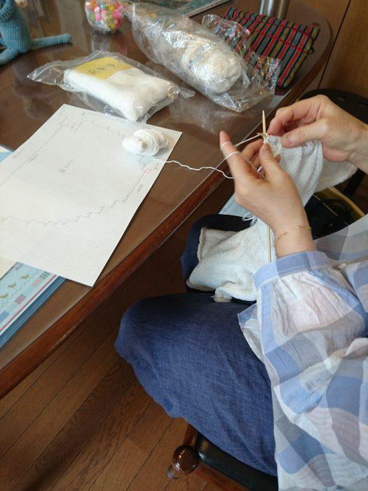 mimosaあみもの教室20180819