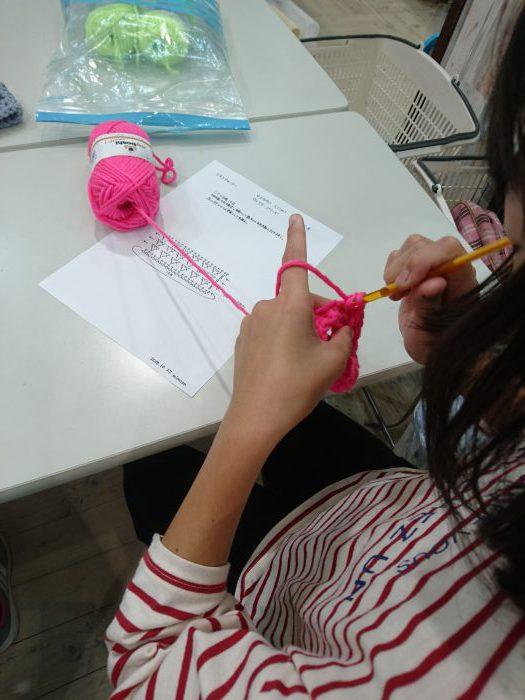 子どものための手編みレッスン20181027