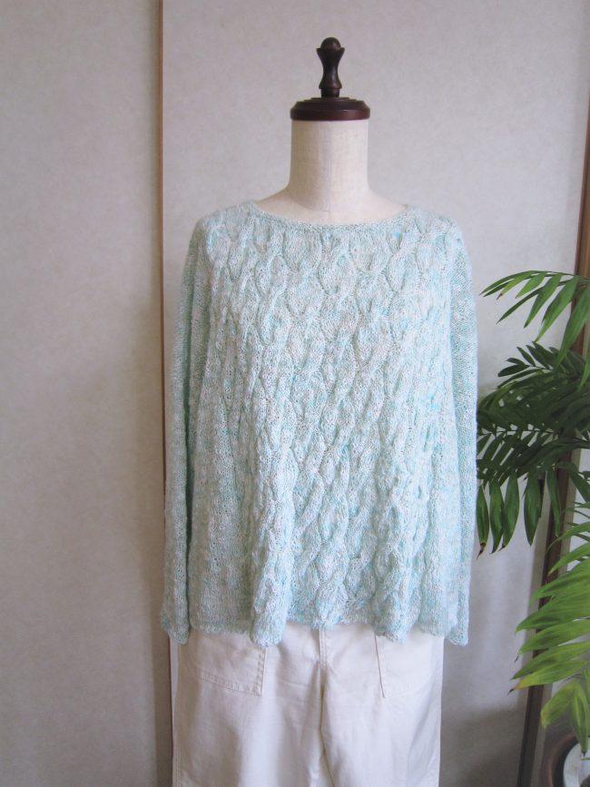 なわ編みもりもりセーター