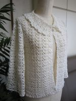 かぎ針編み衿つきカーディガン